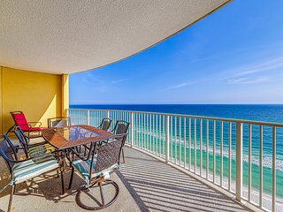 Wake up to beach views, community pool, hot tub, and fitness center!