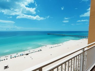 Family-friendly condo w/ beach & Gulf views plus a shared fitness center & pool