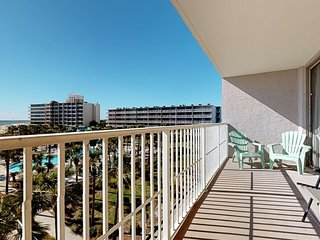 Waterfront condo w/ shared pools, tennis, & basketball courts!