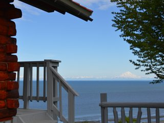 Iliamna Cabin with Mt. Iliamna across the Inlet, Whiskey Point Cabins & RV Park, 20 mins to Homer