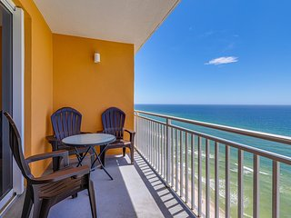Gulf-front condo in the heart of PCB w/ pool, lazy river, hot tub & more!
