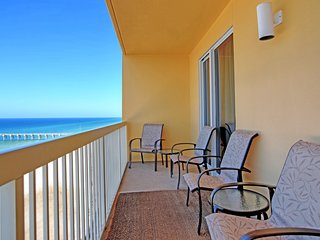 Spacious, waterfront condo w/ a furnished balcony, shared pools, & fitness room