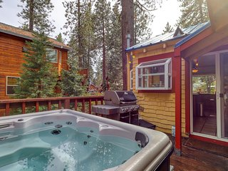 NEW LISTING! Dog-friendly cabin w/ private hot tub near skiing, hiking & lake!