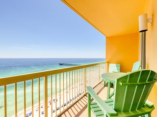 Two bedroom beachfront w/ private balcony and shared pool!