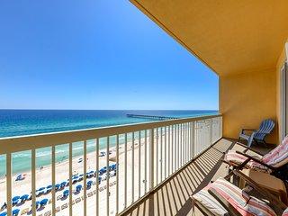 Prime location! Beachfront condo w/ balcony & shared pools - walk to Pier Park!
