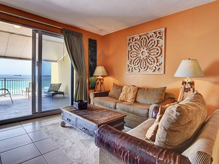Colorful, waterfront condo w/ beach access, a shared pool, fitness center & more