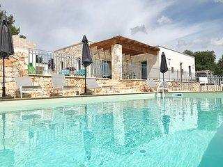 Panoramic boutique rustic-chic trullo/villa conversion with fabulous views.
