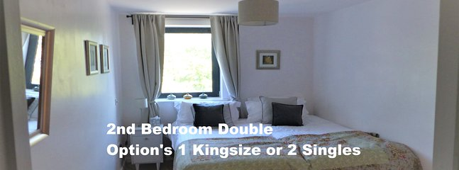 Second Double Bedroom; Super King size or 2 x Single Bed Setup. YOU CHOOSE