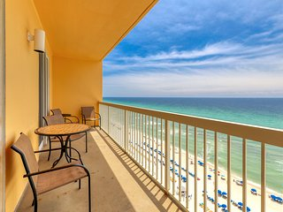 Prime beachfront location! Gulf view condo w/ shared pools - walk to Pier Park!