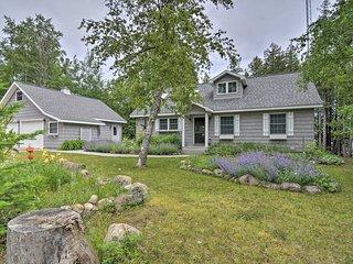 NEW! Presque Isle Cottage with Dock on Lake Esau!