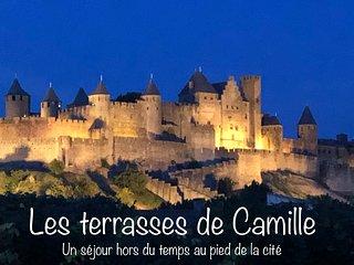 Les terrasses de Camille a 100 m de la cite  avec une vue inoubliable ....