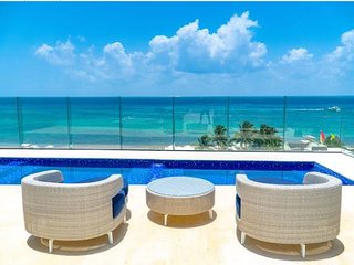 Amazing Ocean view Pool+ brand NEW condo at Cruz con mar -Mamitas beach