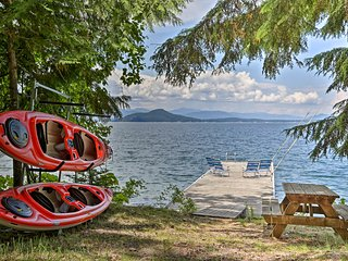 NEW! Lakeside Sagle Home w/Dock-by Schweitzer Mtn!