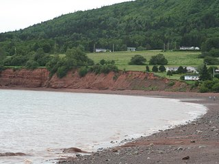 Fall Colours and the beach in the Cliffs of Fundy Geopark.