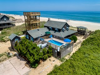 The Beach House | Oceanfront | Dog Friendly, Private Pool, Hot Tub | Nags Head
