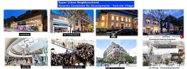 Boutique de compras de lujo, galerías de arte, Hazelton Lanes, Whole Foods, One Restaurant