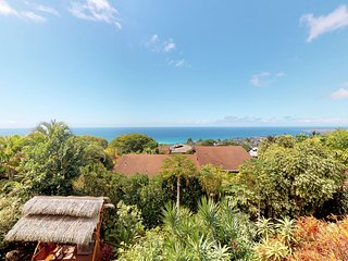 Ocean view walk-out level features a magnificent lanai and open air kitchen