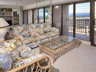Stunning Maui island getaway w/ an ocean view, furnished lanai, & shared pool!