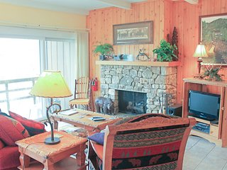 Ski lovers condo w/easy access to slopes, renovated kitchen & stone fireplace