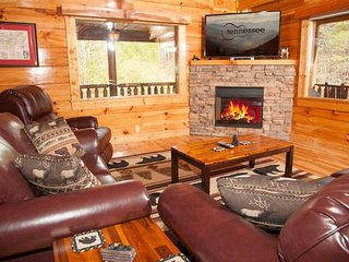 Woodland cabin w/ shared community amenities, private hot tub & gas fireplaces!