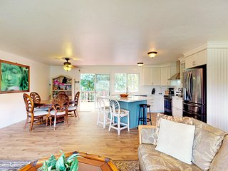 Recently remodeled Princeville home w/ large lanai, yard, & views