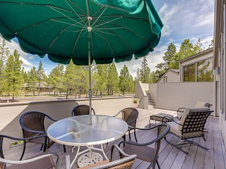 NEW LISTING! Dog-friendly Sunriver home w/wood stove, large deck & SHARC access!