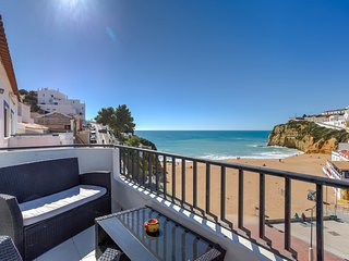 Enviably located, this two bedroom apartment has stunning beach and sea views