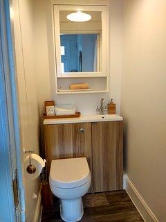 Second toilet / wash basin