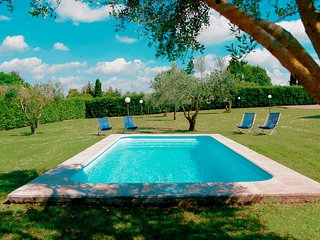 ★★★★★ Bright Villa near Rome/Airy roofed Patio overlooking private Pool/Garden