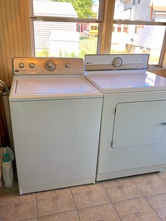 Laundry room with full size washer & dryer!