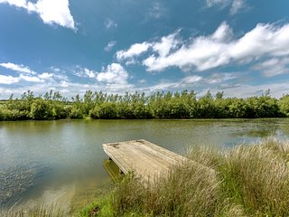 Holiday home with beautiful views and use of fishing lake near Crackington Haven