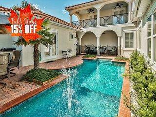 15% OFF FALL + 2 FREE Golf Carts! Luxury Home w/ Pool +FREE VIP Perks & More!