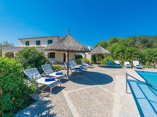 Villa rural Son Perxa para 10 personas a tan solo 15 minutos de la playa.