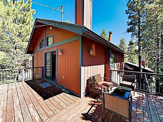 New Listing! Fireside Fun w/ Wraparound Deck, Large Patio, Game Room, Wet Bar