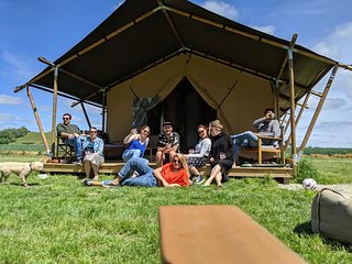 Wheatfields Luxury Glamping - Skylark, One of two tents. near Rye & Camber Sands