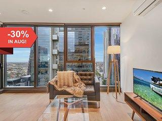 A Stylish 2BR CBD Suite Next to Melbourne Central
