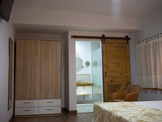 Casa señorial S. XIX en Monfragüe cama matrimonio habitación nº 3