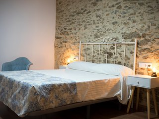 Casa señorial S. XIX en Monfragüe cama matrimonio habitación nº 2