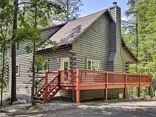NEW! Private St. Germain Log Home - Walk to Lake!