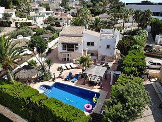 Villa Hermosa entre Moraira Calpe en oasis de tranquilidad y privacidad