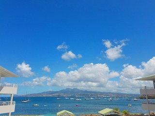 Sandama, location Terrasses de la Plage, front de mer, Anse Mitan, Trois-Ilets