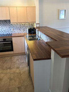 Newly Renovated Kitchen with all new kitchen appliances including a Nespresso Machine