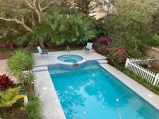 Dog-friendly beach home w/ a private, heated pool & spa - close to the beach!