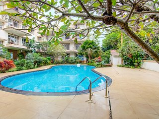Elegant 1 BHK with a pool, 1.2 km from Baga Beach /71025