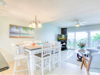 Open concept dining room with high top table to enjoy family meals