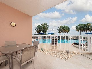 First Floor Unit, Located Right By the Pool!