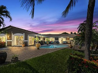 New Listing! Opulent Waterfront Gem w/ Pool, Outdoor Bar, Dock & Ocean Access