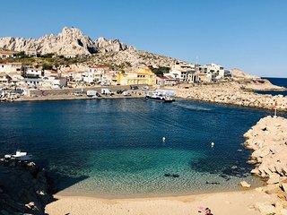Villa de charme avec vue mer dans les calanques