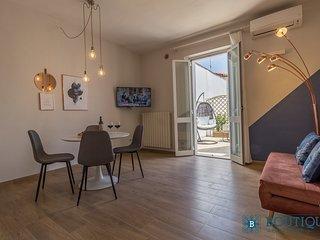 Living Room con accesso diretto alla Terrazza, con Divano Letto Matrimoniale e Climatizzatore