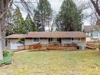 Dog-friendly home w/ wood fireplace, game room - walk to the lake!